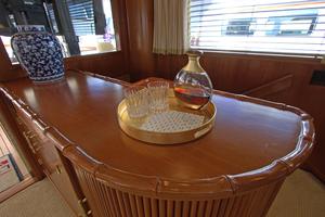 102' Palmer Johnson Cockpit Motoryacht 1980 Compaionway Cabinet Divider