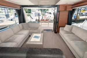 70' Ocean Alexander Evolution 2017 Salon aft view