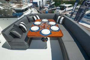 70' Ocean Alexander Evolution 2017 Rear of boat deck seating