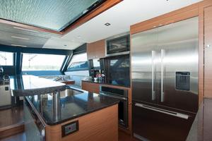 70' Ocean Alexander Evolution 2017 Galley refrigerator and freezer