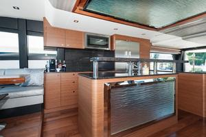 70' Ocean Alexander Evolution 2017 Galley decorative feature