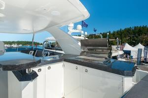 70' Ocean Alexander Evolution 2017 BBQ/bar boat deck