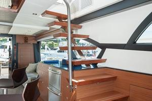 70' Ocean Alexander Evolution 2017 Stairs to boat deck