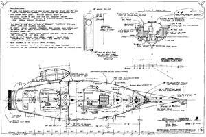 44' Kasten Marine Designed 44 Redpath Schooner 2013 Vessel Diagram