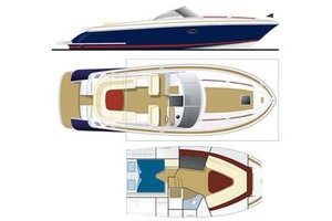 36' Chris-craft Corsair 36 2013 Line Drawing