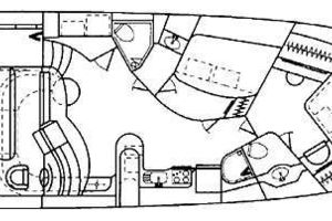 50' Sea Ray Sundancer 1998 Manufacturer Layout Drawing