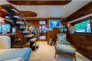 80' Nova Marine Supernova 80 2000 Salon stairway to bridge, forward view