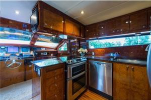 80' Nova Marine Supernova 80 2000 Galley forward view