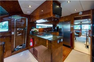 80' Nova Marine Supernova 80 2000 Galley aft view
