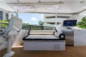 80' Nova Marine Supernova 80 2000 Flybridge lounge and TV