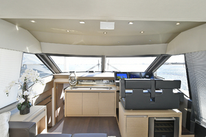 68' Prestige 680 Fly 2018 Companionway to Staterooms