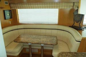 74' Hatteras Motoryacht Sport Deck 1996 Galley Dinette to Starboard