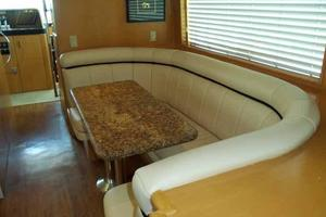 74' Hatteras Motoryacht Sport Deck 1996 Galley Dinette Looking Forward