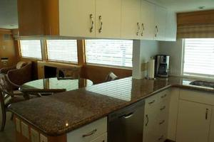 74' Hatteras Motoryacht Sport Deck 1996 Galley Looking Aft