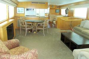 74' Hatteras Motoryacht Sport Deck 1996 Salon Looking Forward