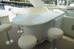 74' Hatteras Motoryacht Sport Deck 1996 Flybridge Key Bar