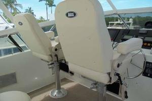 74' Hatteras Motoryacht Sport Deck 1996 New Helm Chairs