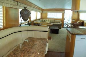 74' Hatteras Motoryacht Sport Deck 1996 Galley Dinette Looking Aft