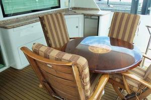 74' Hatteras Motoryacht Sport Deck 1996 Aft Deck Table