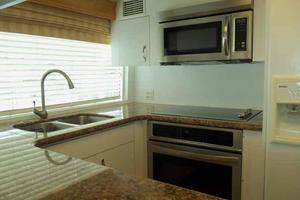74' Hatteras Motoryacht Sport Deck 1996 Galley Looking Forward