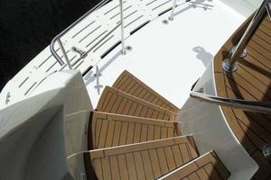 74' Hatteras Motoryacht Sport Deck 1996 Sport Deck Steps