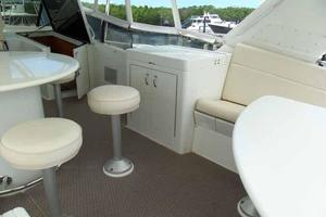74' Hatteras Motoryacht Sport Deck 1996 Starboard Side Flybridge Grill Cabinet