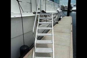 74' Hatteras Motoryacht Sport Deck 1996 Articulating Marquipt Stairs