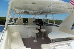 74' Hatteras Motoryacht Sport Deck 1996 Flybridge Looking Forward