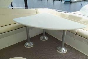 74' Hatteras Motoryacht Sport Deck 1996 Starboard Side Flybridge Table