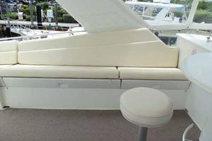 74' Hatteras Motoryacht Sport Deck 1996 Portside Flybridge Seating
