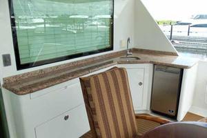 74' Hatteras Motoryacht Sport Deck 1996 Aft Deck Bar