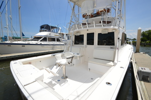 35' Cabo 35 Convertible 2002 Starboard Side Cockpit Looking Forward