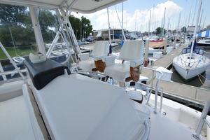 35' Cabo 35 Convertible 2002 Flybridge Looking Aft