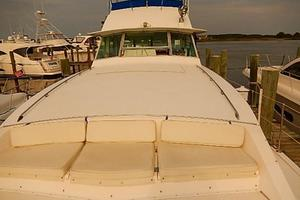 46' Bertram Motor Yacht 1974 Looking aft from bow