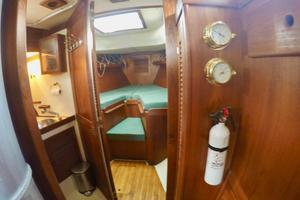 37' Tartan 37 1979 Forward Cabin and Head on Port