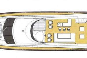88' Sunseeker Flybridge Motoryacht 2009 Flybridge Layout