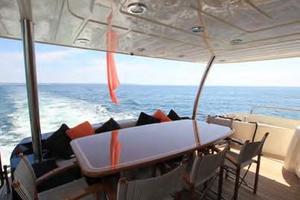 88' Sunseeker Flybridge Motoryacht 2009 Aft Deck