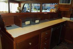 68' Stephens LRC/Trawler 1978 Galley Looking Aft