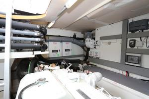 55' Prestige 550 2015 Engine Room 4