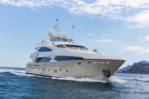 121' Sunseeker Sunseeker 37m 2009 Starboard Bow Profile