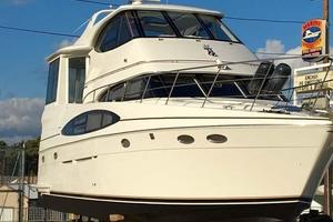 50' Carver 506 Aft Cabin Motor Yacht 2000 Starboard Bow on the Hard