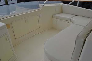 53' Viking Convertible 1990 Flybridge Forward Seating