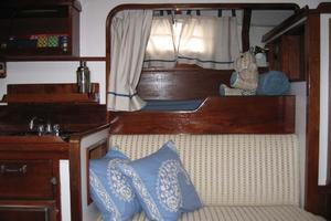 65' Custom John Walsh Expedition Schooner 1988 Main Salon Wet Bar
