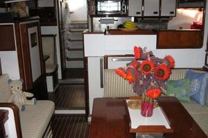 65' Custom John Walsh Expedition Schooner 1988 Main Salon, Galley and Nav Station