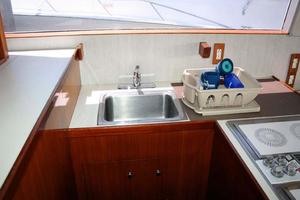53' Monterey Custom Sportfish 1978 Galley Sink