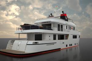 101' Ocean King Americana 2020 Starboard Quarter
