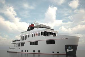 101' Ocean King Americana 2020 Starboard Bow