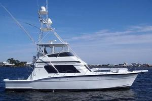 52' Hatteras Convertible 1990 Side Profile