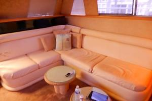 46' Silverton Motor Yacht 1990 Sectional leather sofa