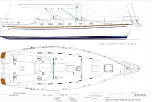 40' Tartan 395 2020 Deck Plans